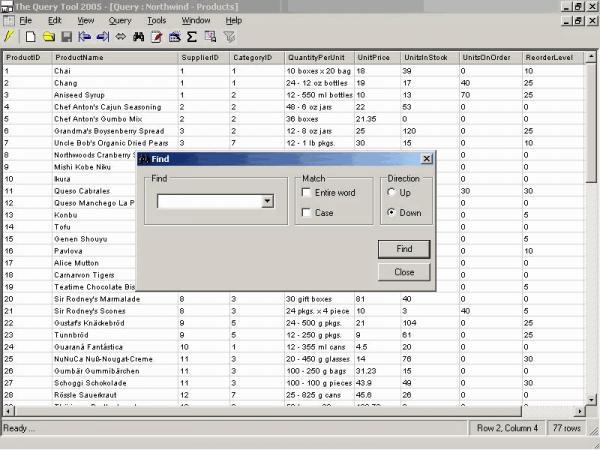 The Query Tool 2005